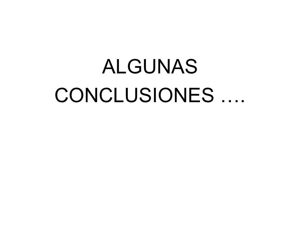 ALGUNAS CONCLUSIONES ….