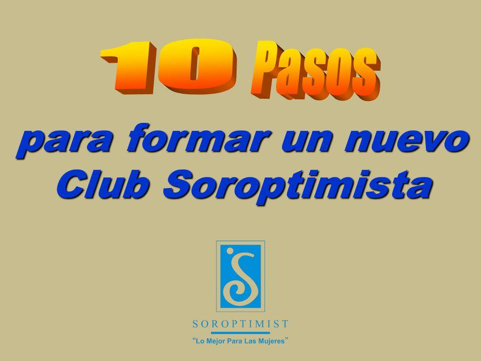 para formar un nuevo Club Soroptimista