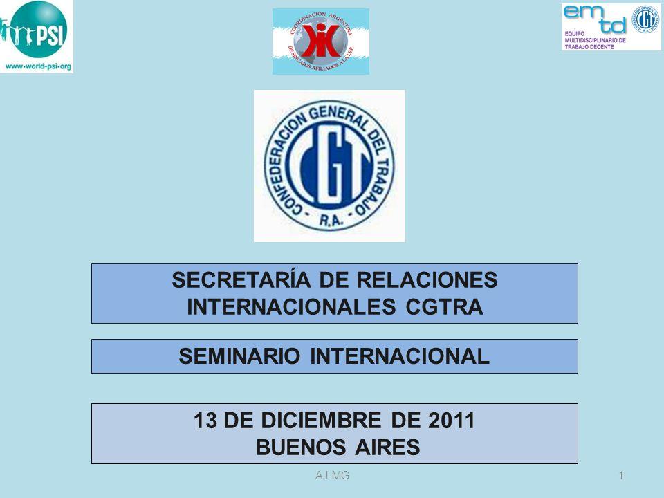 CONFERENCIA INTERAMERICANA DE MINISTROS DEL TRABAJO CIMT 2AJ-MG EL CONSEJO SINDICAL DE ASESORAMIENTO TÉCNICO COSATE