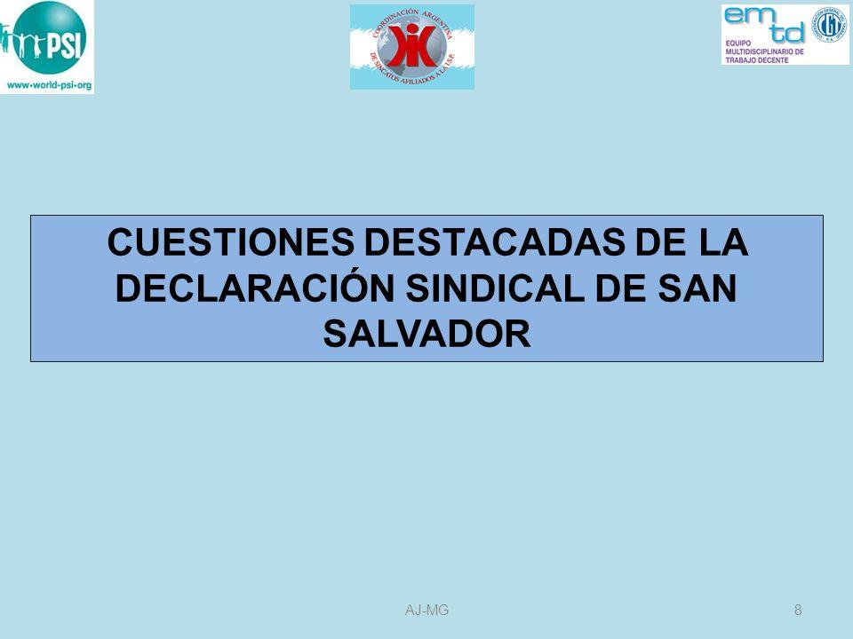 9AJ-MG UN DEBATE PROFUNDO CON PARTICIPACIÓN DEL SINDICALISMO DE LAS AMÉRICAS SOBRE LAS SALIDAS A LAS CRISIS Y SUS MEDIDAS CONCRETAS ASÍ COMO SOBRE EL CARÁCTER DEL MODELO DE DESARROLLO QUE DESEAMOS PARA NUESTROS PAÍSES.