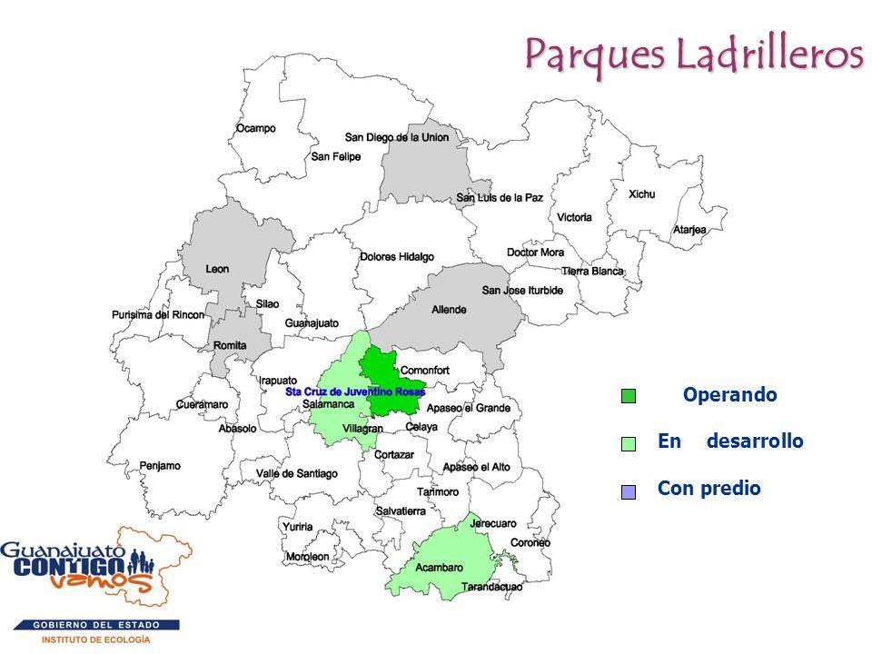 Parques Ladrilleros Operando En desarrollo Con predio