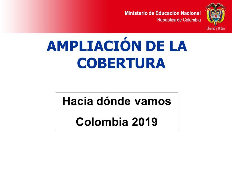 Ministerio de Educación Nacional República de Colombia Cobertura: ¿Hacia donde vamos.