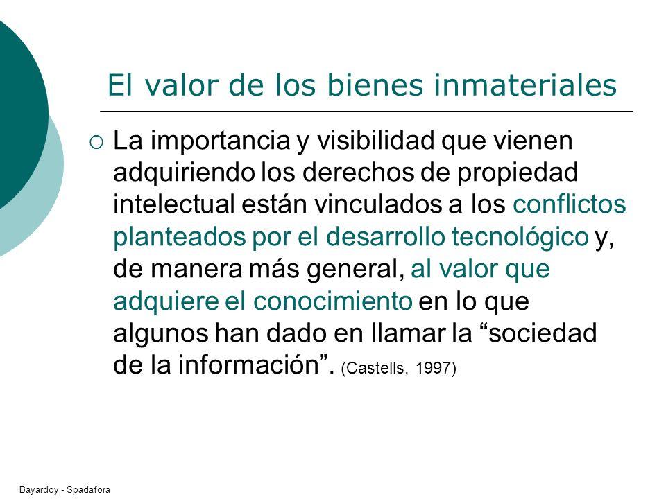 El valor de los bienes inmateriales La importancia y visibilidad que vienen adquiriendo los derechos de propiedad intelectual están vinculados a los c