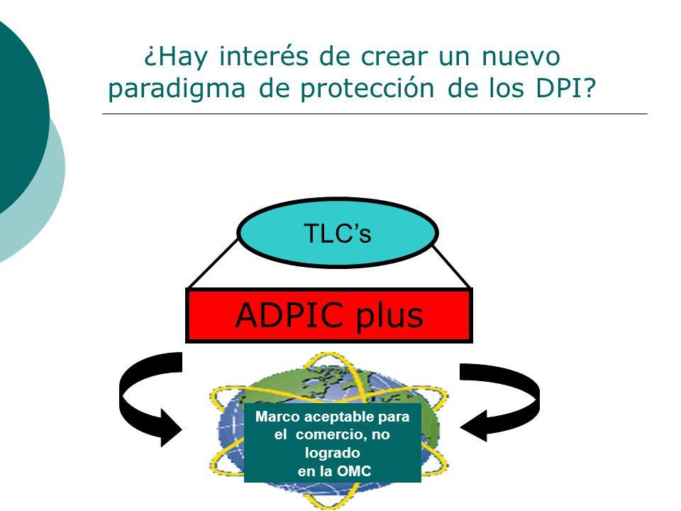 ADPIC plus TLCs Marco aceptable para el comercio, no logrado en la OMC ¿Hay interés de crear un nuevo paradigma de protección de los DPI?