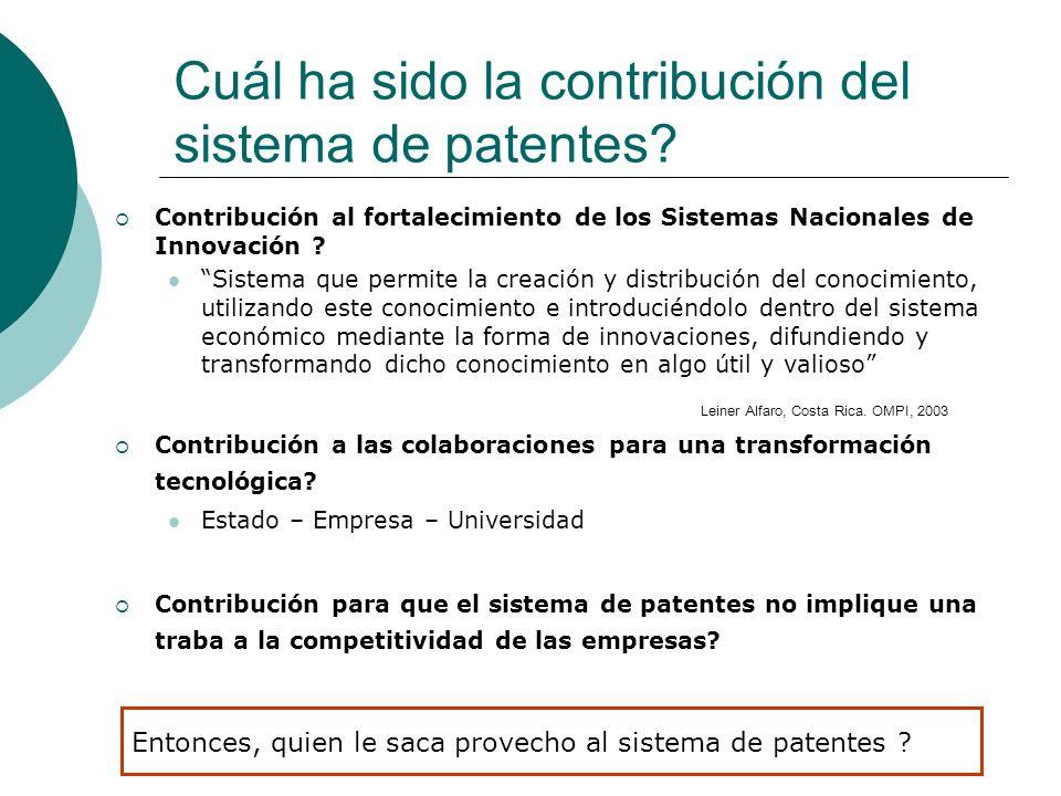 Contribución al fortalecimiento de los Sistemas Nacionales de Innovación ? Sistema que permite la creación y distribución del conocimiento, utilizando
