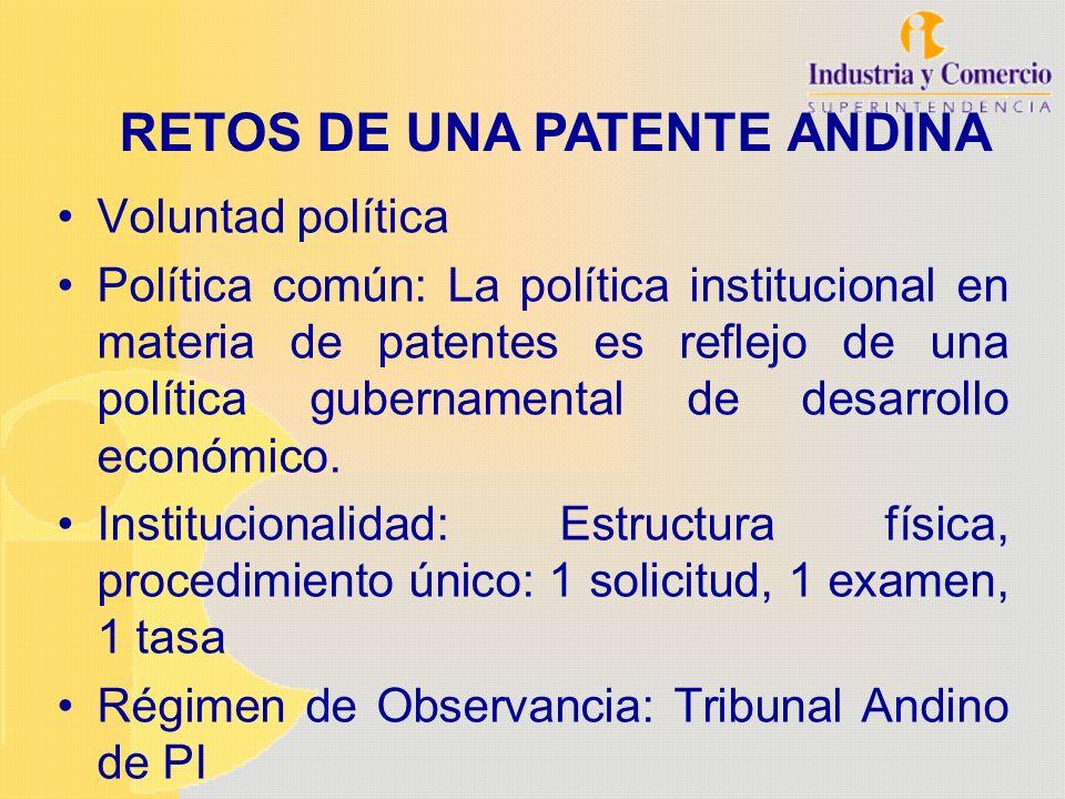Voluntad política Política común: La política institucional en materia de patentes es reflejo de una política gubernamental de desarrollo económico. I