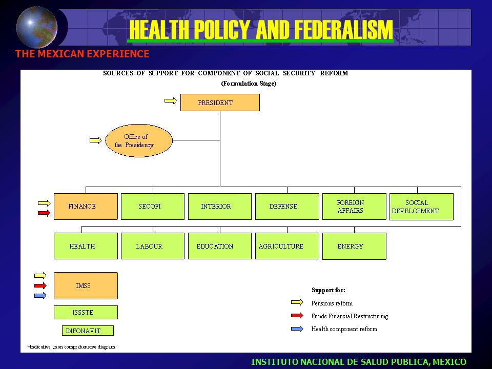 INSTITUTO NACIONAL DE SALUD PUBLICA, MEXICO HEALTH POLICY AND FEDERALISM THE MEXICAN EXPERIENCE