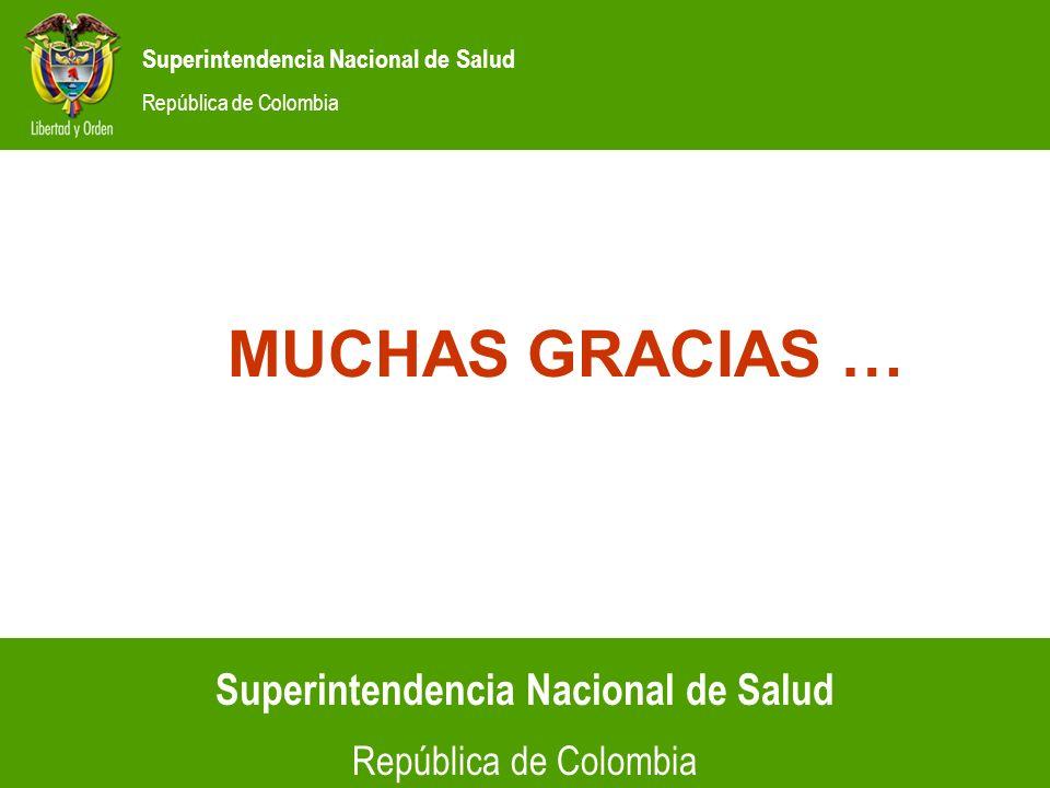 Superintendencia Nacional de Salud República de Colombia Superintendencia Nacional de Salud República de Colombia MUCHAS GRACIAS …