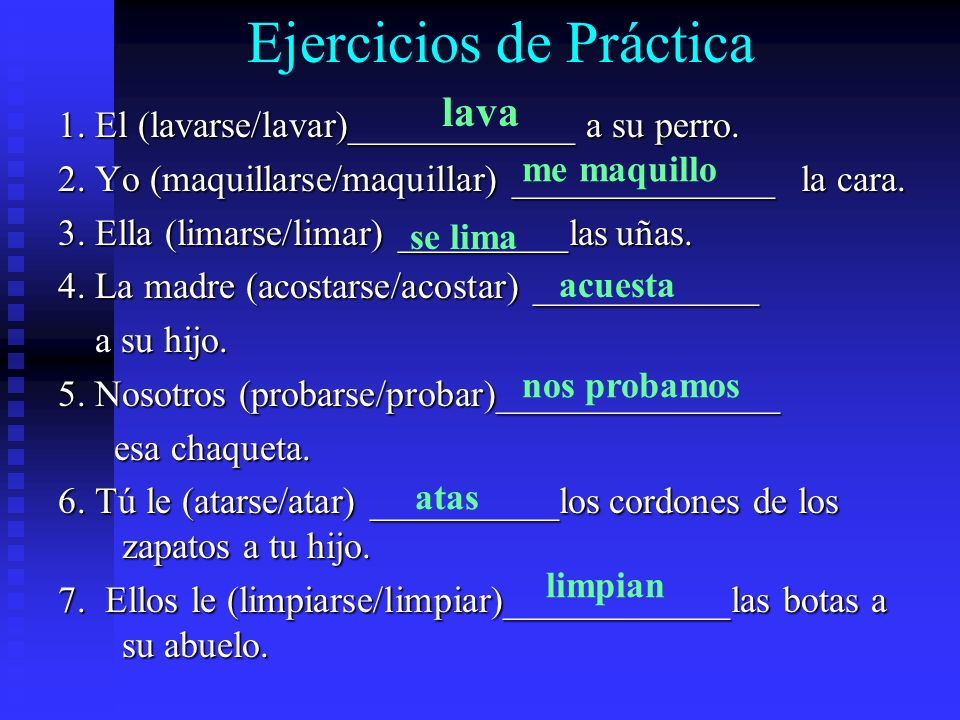 Los Verbos Reflexivos en el pretérito Reflexive verbs are conjugated just like non- reflexive verbs and the reflexive pronoun comes before the conjuga