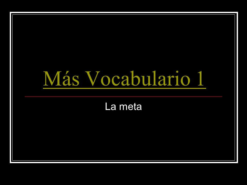 Más Vocabulario 1 La meta