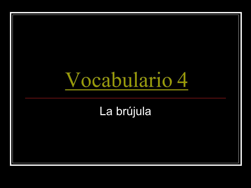 Vocabulario 5 This way