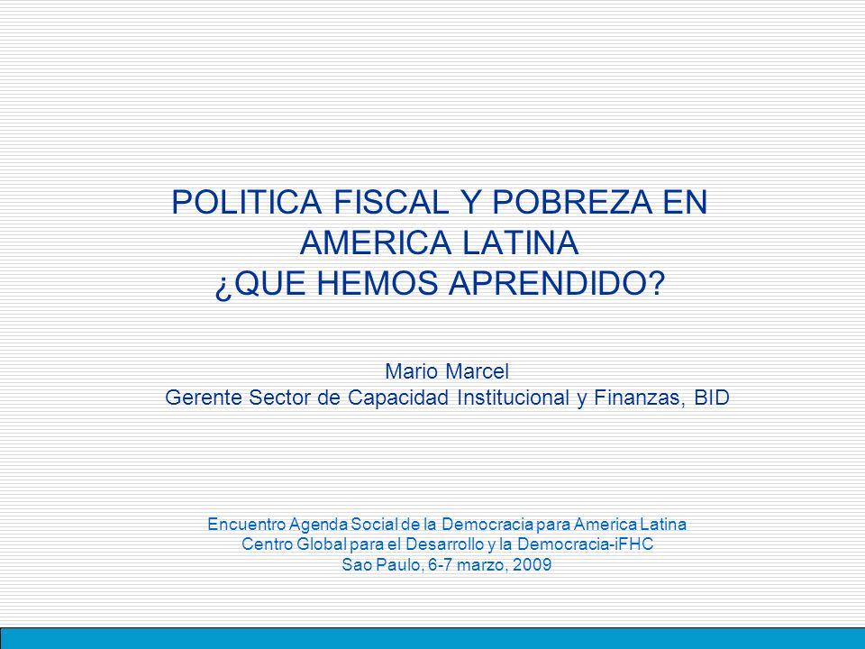 POLITICA FISCAL Y POBREZA EN AMERICA LATINA ¿QUE HEMOS APRENDIDO.