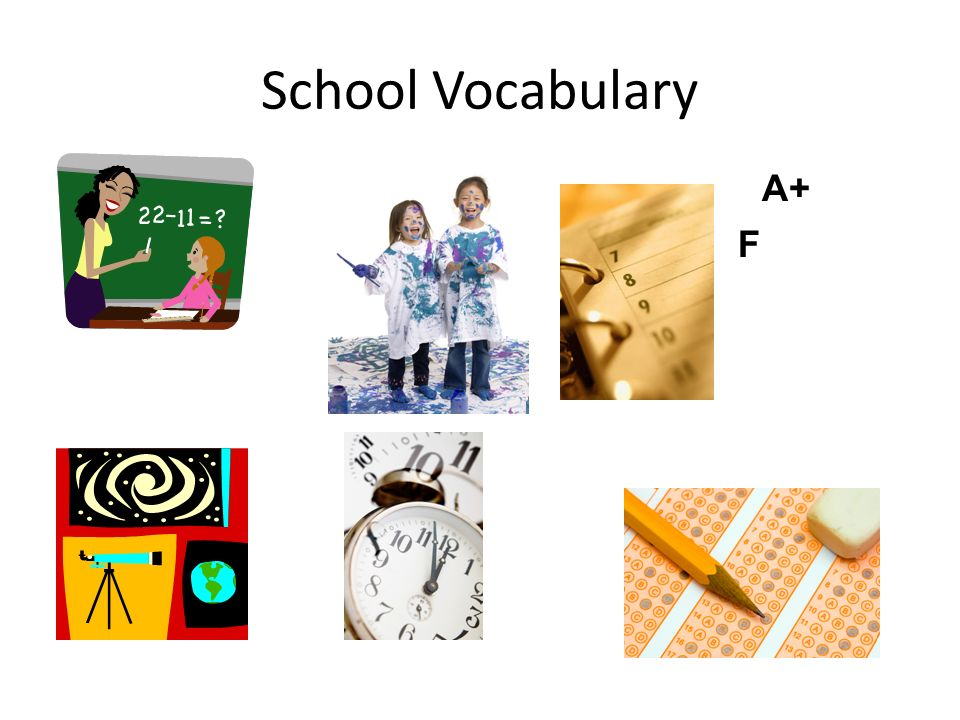 School Vocabulary A+ F