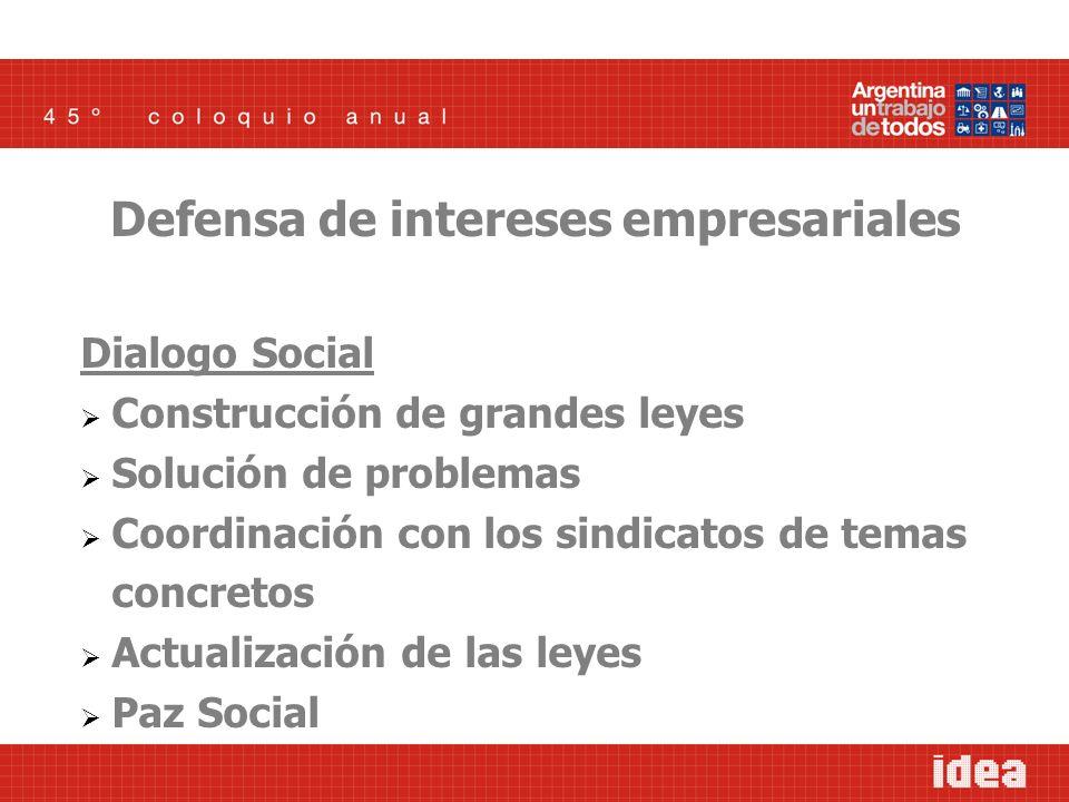 Dialogo Social Construcción de grandes leyes Solución de problemas Coordinación con los sindicatos de temas concretos Actualización de las leyes Paz S