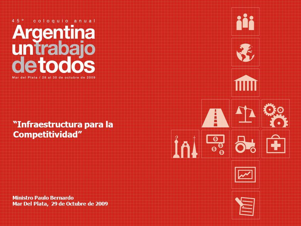 Infraestructura para la Competitividad Ministro Paulo Bernardo Mar Del Plata, 29 de Octubre de 2009