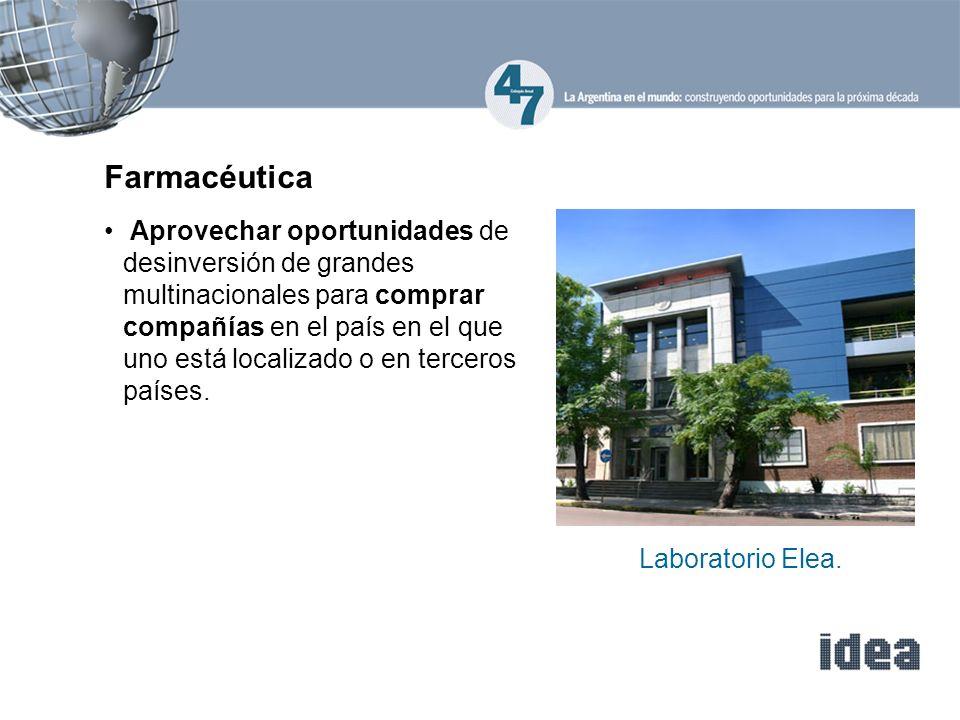 Farmacéutica Aprovechar oportunidades de desinversión de grandes multinacionales para comprar compañías en el país en el que uno está localizado o en