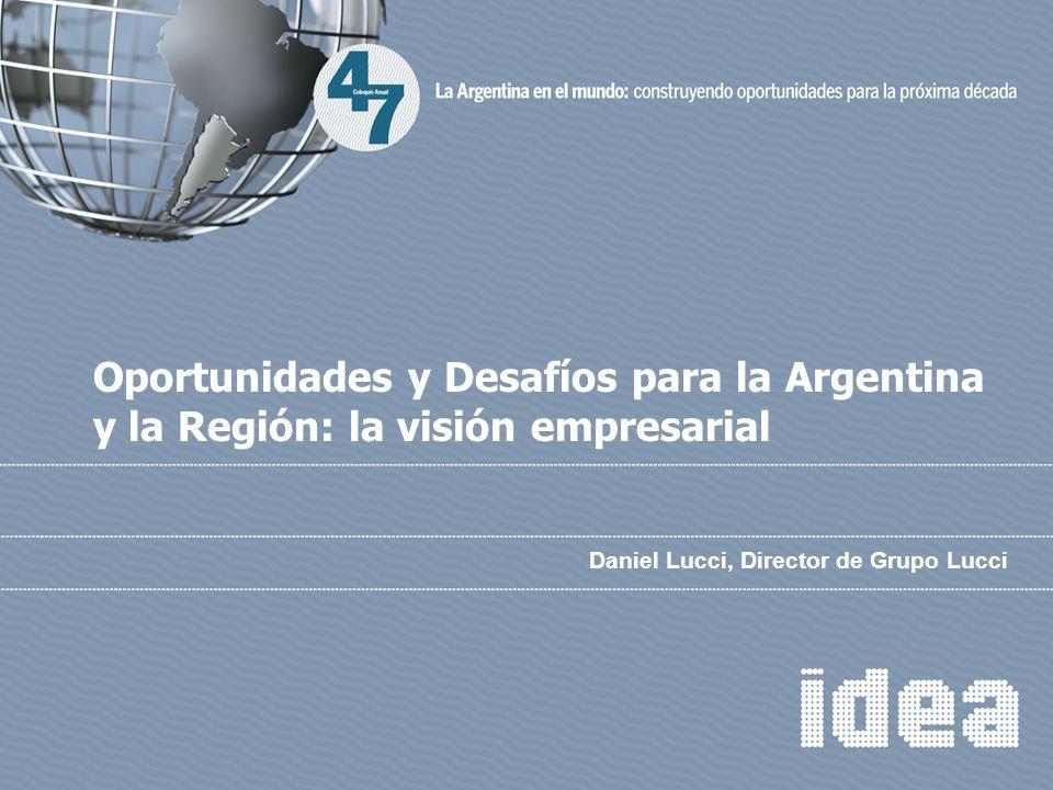 Daniel Lucci, Director de Grupo Lucci Oportunidades y Desafíos para la Argentina y la Región: la visión empresarial
