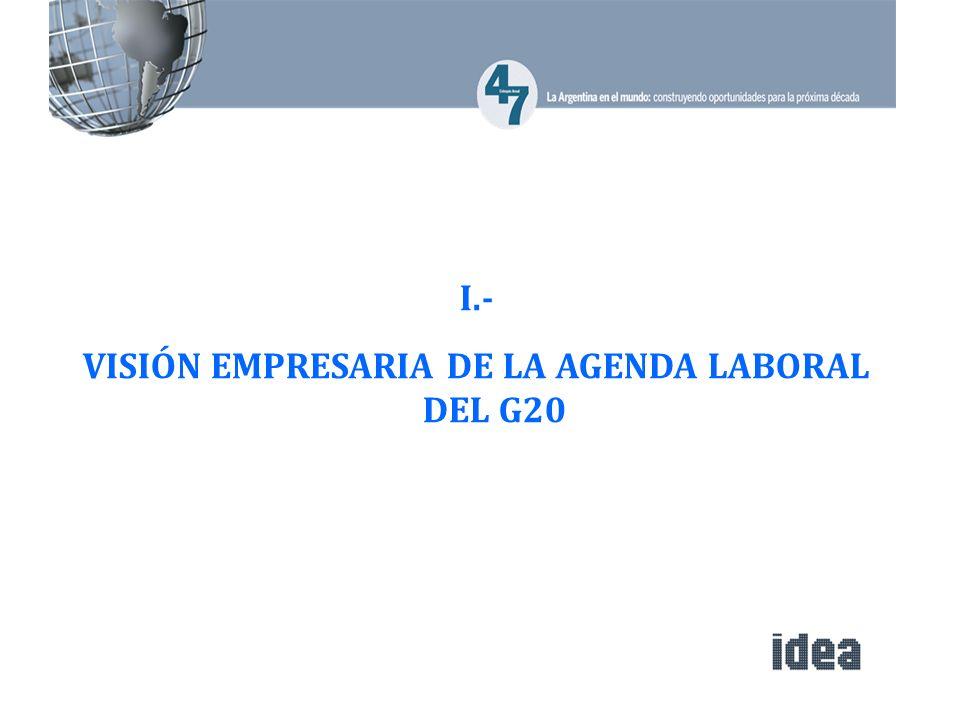 I.- VISIÓN EMPRESARIA DE LA AGENDA LABORAL DEL G20