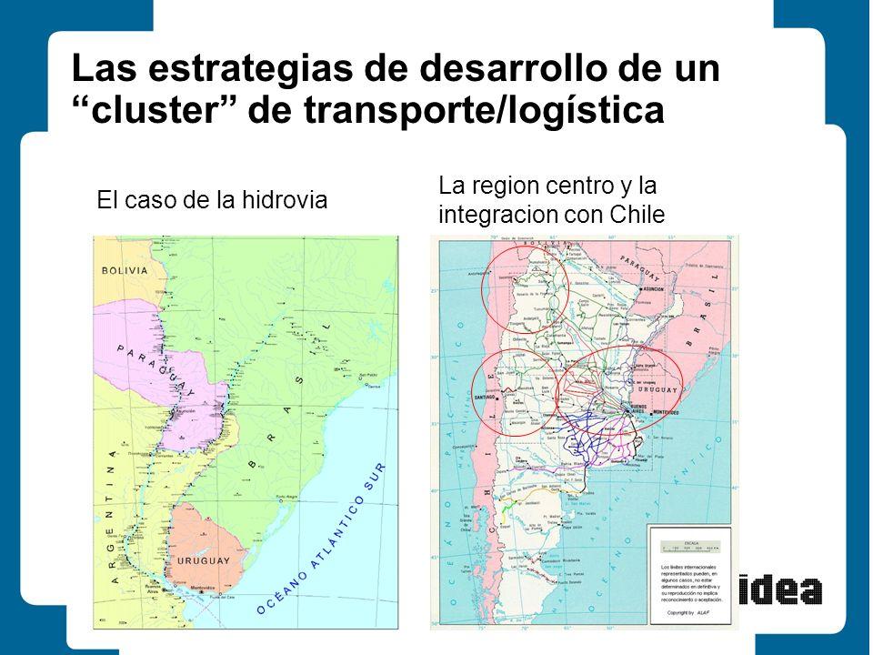 15 Las estrategias de desarrollo de un cluster de transporte/logística El caso de la hidrovia La region centro y la integracion con Chile