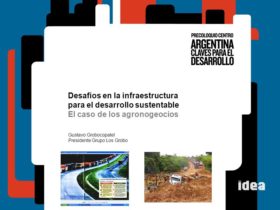 Desafios en la infraestructura para el desarrollo sustentable El caso de los agronogeocios Gustavo Grobocopatel Presidente Grupo Los Grobo
