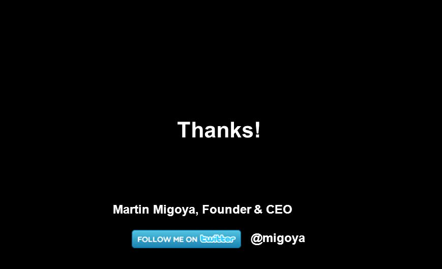 @migoya Thanks! Martin Migoya, Founder & CEO