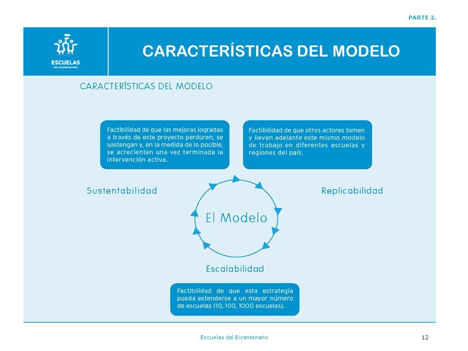 Escuelas del Bicentenario12 PARTE 2. CARACTERÍSTICAS DEL MODELO