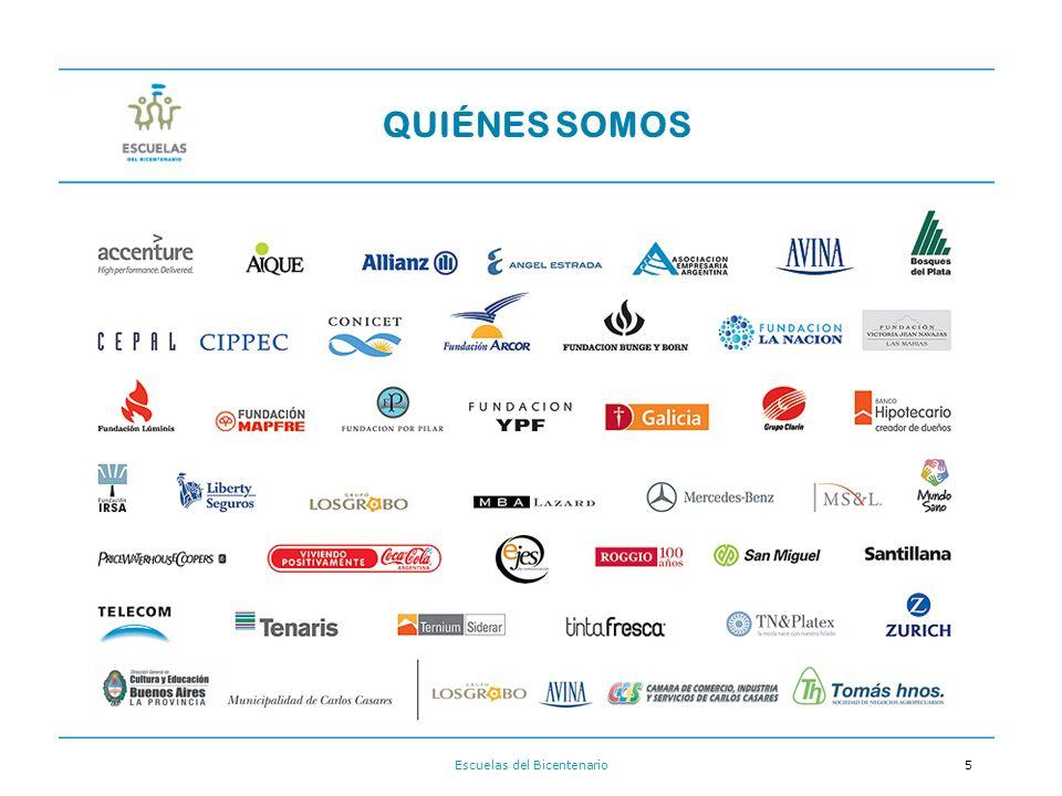 Escuelas del Bicentenario5 QUIÉNES SOMOS Empresas y Fundaciones que apoyan al Proyecto: