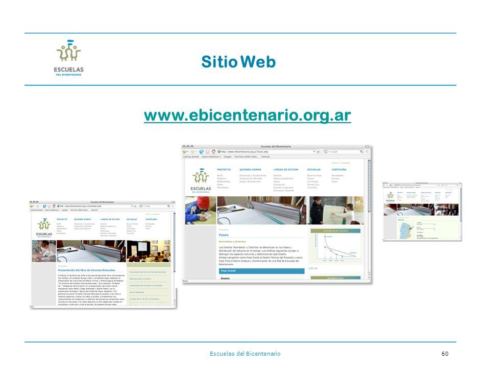 Escuelas del Bicentenario60 Sitio Web www.ebicentenario.org.ar