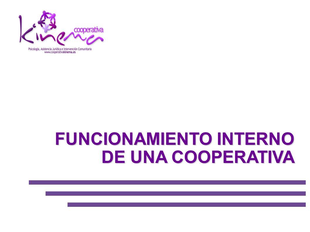 El organigrama fundamental de una cooperativa se resume en tres órganos obligatorios:ASAMBLEA ORGANO DE ADMINISTRACIÓN INTERVENCIÓN Además de los anteriores, según las cooperativas pueden existir otros órganos, pero no son obligatorios.