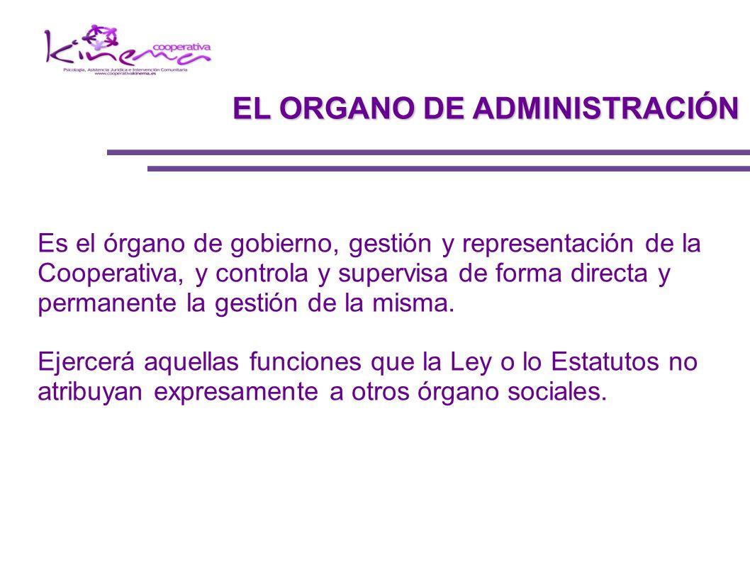 Es el órgano de gobierno, gestión y representación de la Cooperativa, y controla y supervisa de forma directa y permanente la gestión de la misma. Eje