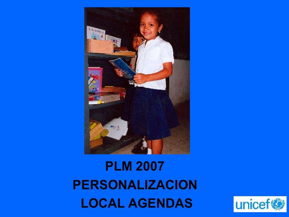 PLM 2007 PERSONALIZACION LOCAL AGENDAS