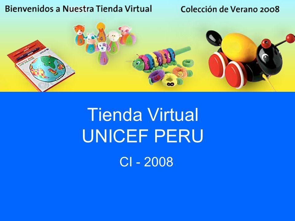 Tienda Virtual UNICEF PERU CI - 2008