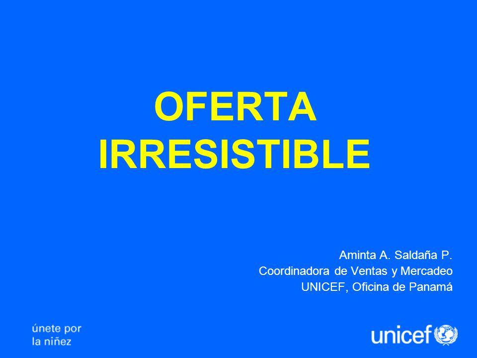 OFERTA IRRESISTIBLE Aminta A.Saldaña P.