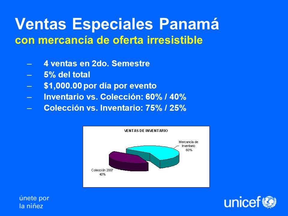 Ventas Especiales Panamá con mercancía de oferta irresistible –4 ventas en 2do.