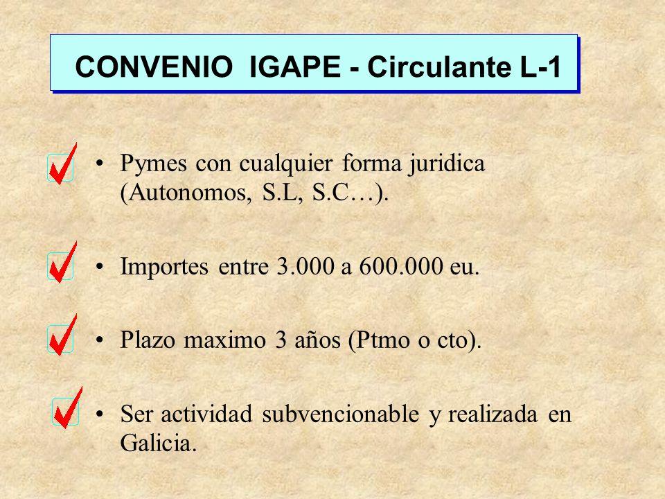 Pymes con cualquier forma juridica (Autonomos, S.L, S.C…). Importes entre 3.000 a 600.000 eu. Plazo maximo 3 años (Ptmo o cto). Ser actividad subvenci
