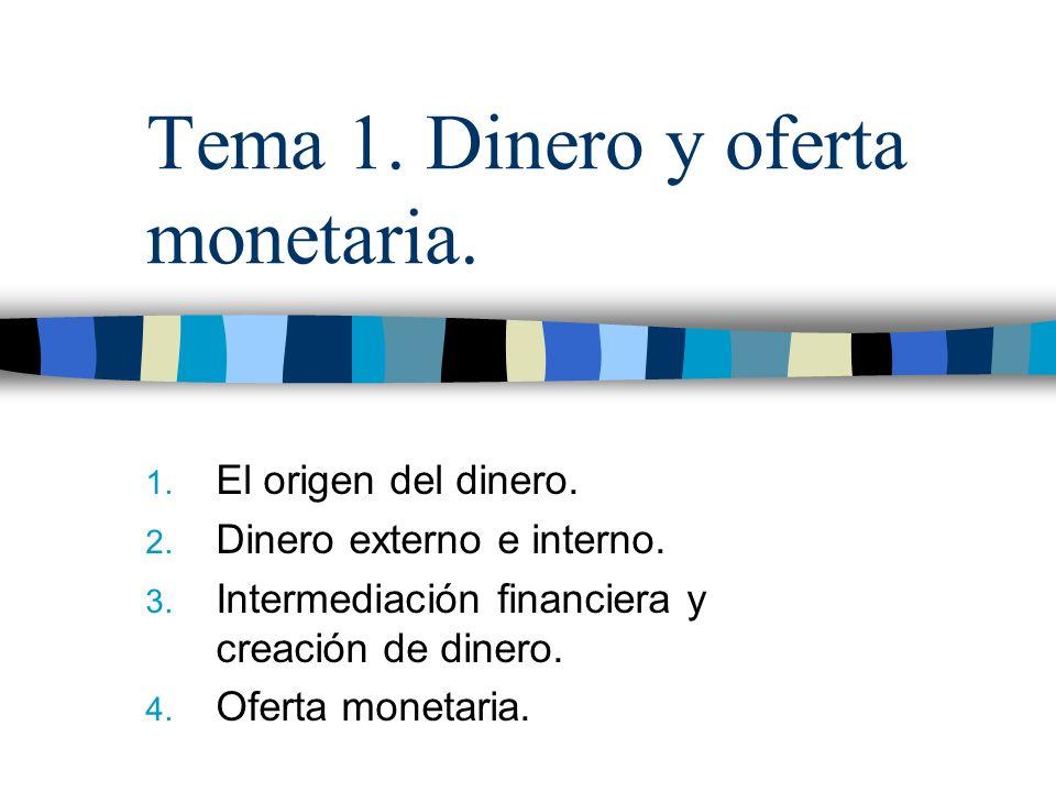 Tema 1.Dinero y oferta monetaria. 1. El origen del dinero.