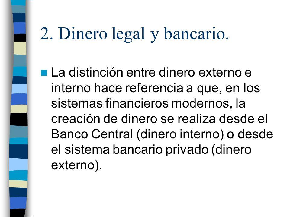 2.Dinero legal y bancario.