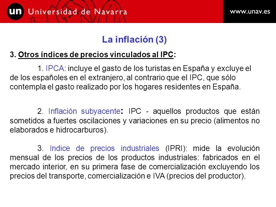 La inflación (4) 4.Causas de la inflación: 1.
