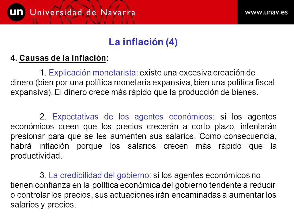 La inflación (5) 4.Causas de la inflación: 4.