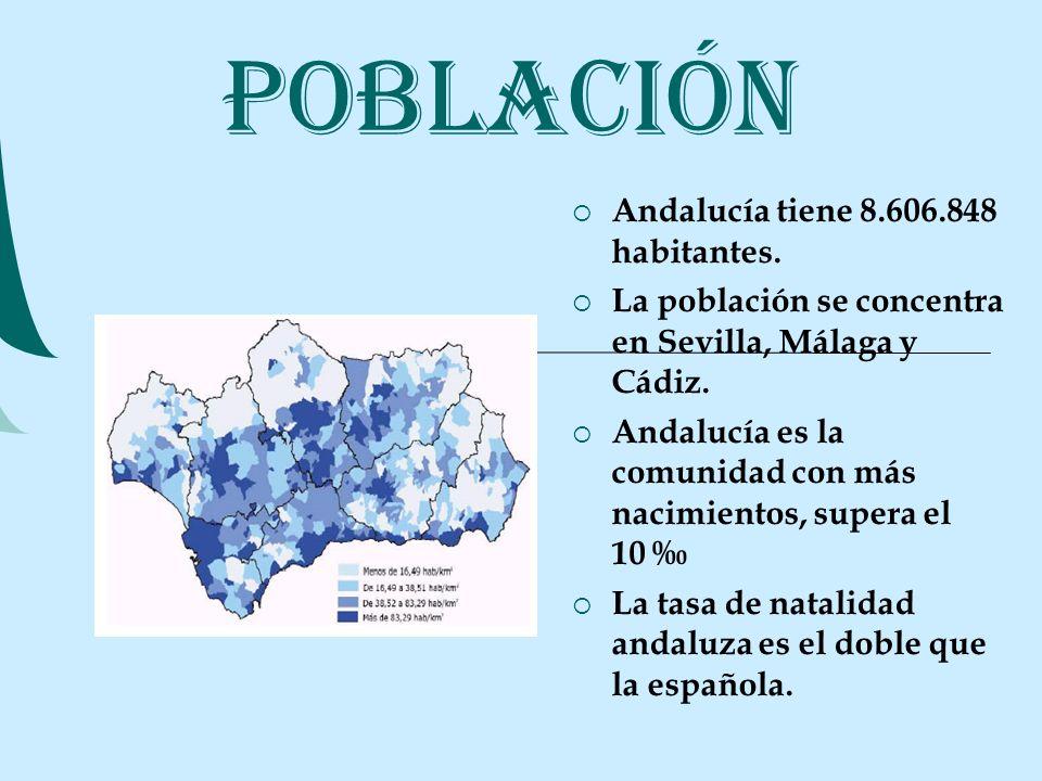 LA RENTA ANDALUZA La renta per cápita disponible representa el 81% de la media española.