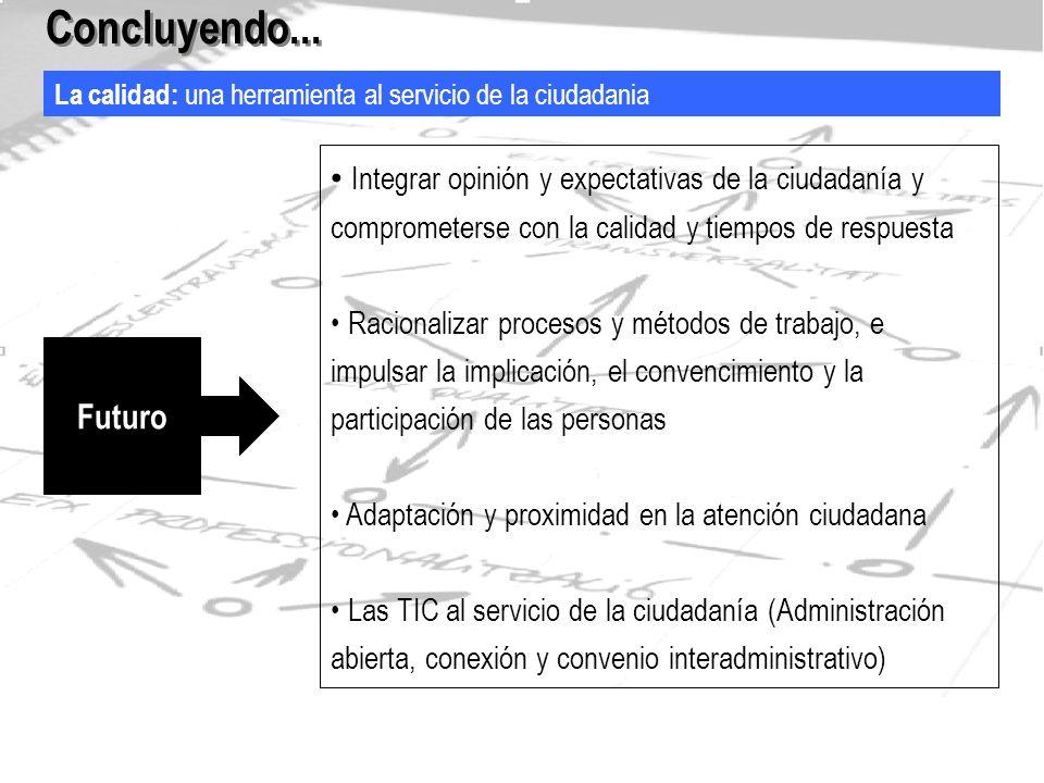 La orientación a resultados: hacia una asignación racional de los recursos Concluyendo...