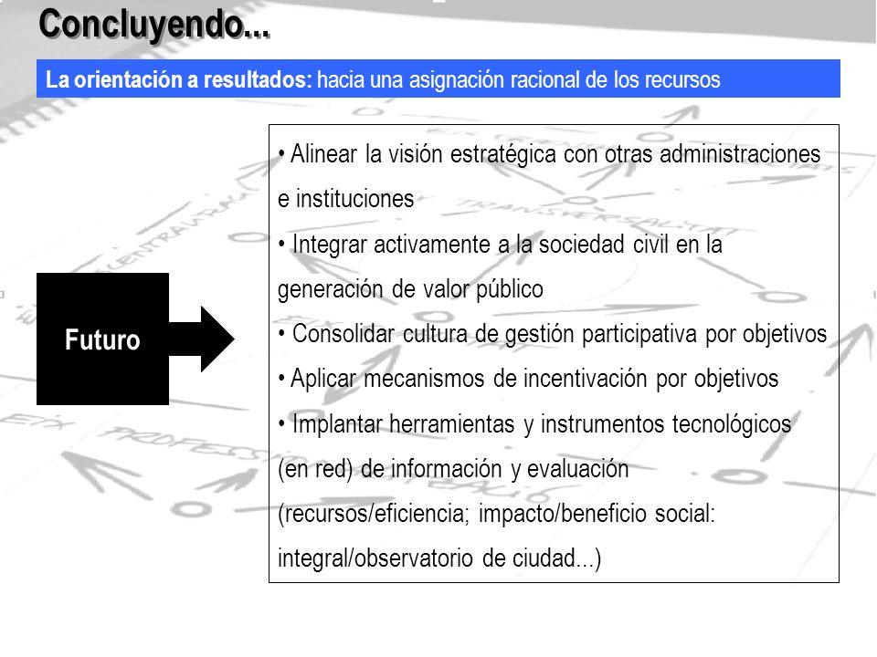 La transversalidad: respuestas integrales centradas en las personas Concluyendo...