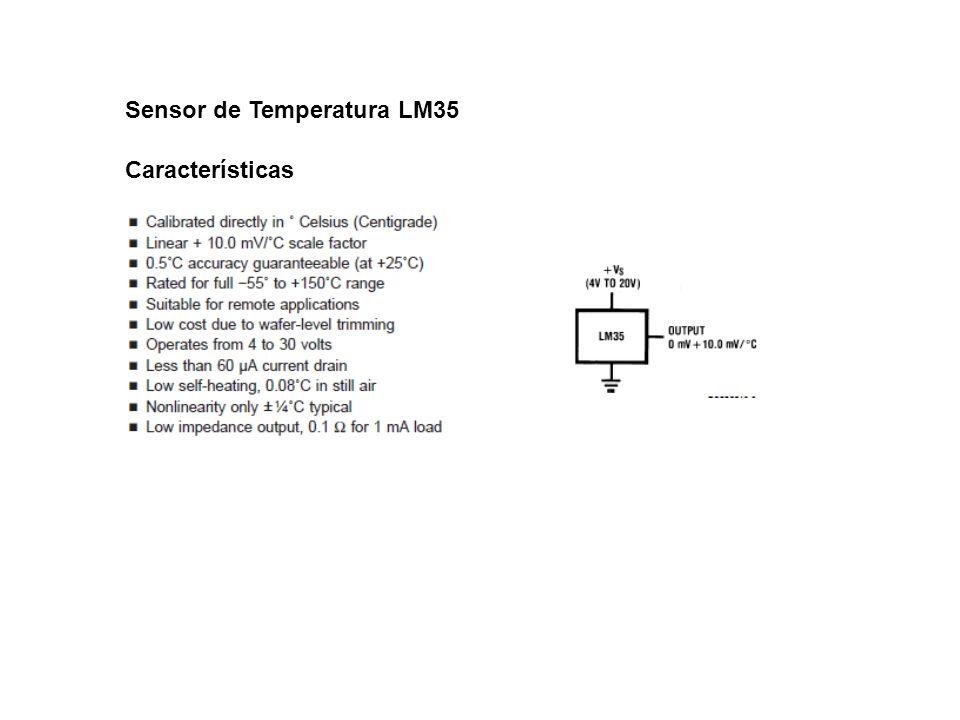 Sensor de Temperatura LM35 Características
