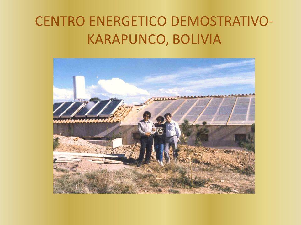 CENTRO ENERGETICO DEMOSTRATIVO- KARAPUNCO, BOLIVIA