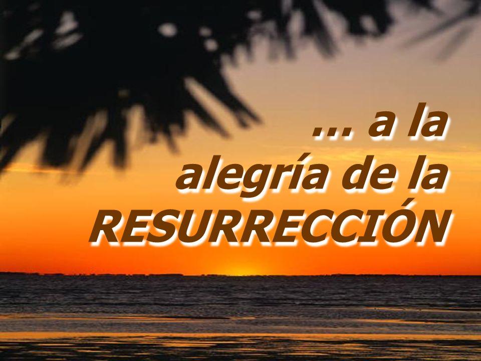 … a la alegría de la RESURRECCIÓN … a la alegría de la RESURRECCIÓN
