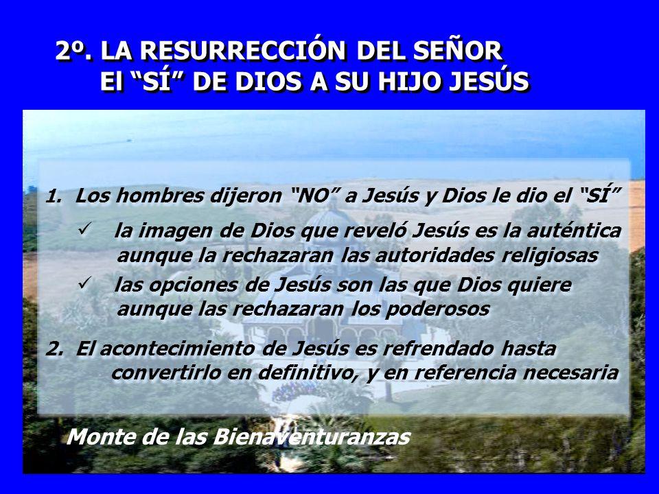 2º. LA RESURRECCIÓN DEL SEÑOR El SÍ DE DIOS A SU HIJO JESÚS 2º. LA RESURRECCIÓN DEL SEÑOR El SÍ DE DIOS A SU HIJO JESÚS 1. Los hombres dijeron NO a Je