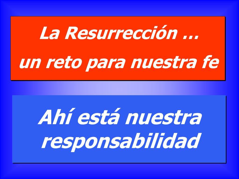 La Resurrección … un reto para nuestra fe La Resurrección … un reto para nuestra fe ¿Estoy convencido de que el Señor ha resucitado? ¿Dónde puedo reco