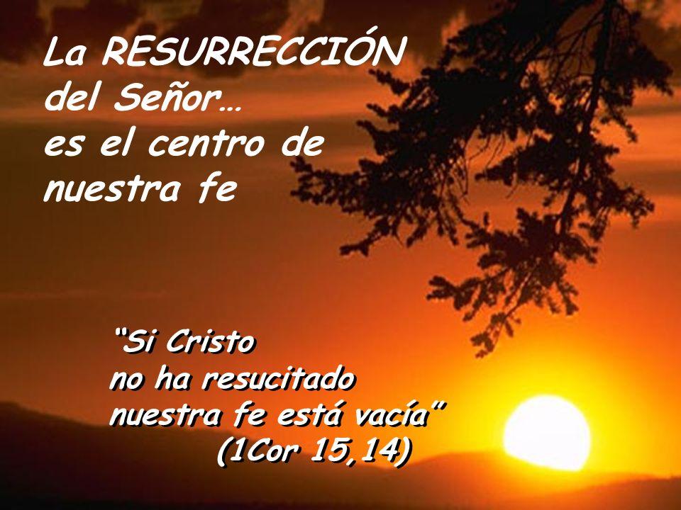La RESURRECCIÓN del Señor… es el centro de nuestra fe Si Cristo no ha resucitado nuestra fe está vacía (1Cor 15,14) Si Cristo no ha resucitado nuestra