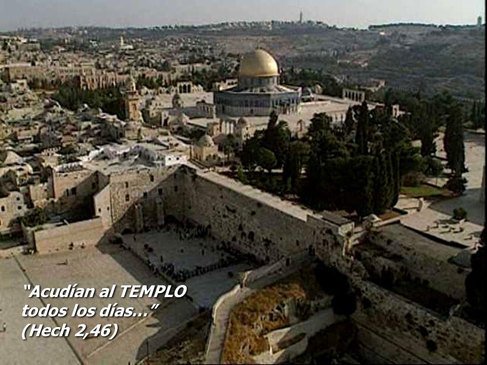 Acudían al TEMPLO todos los días… (Hech 2,46) Acudían al TEMPLO todos los días… (Hech 2,46)