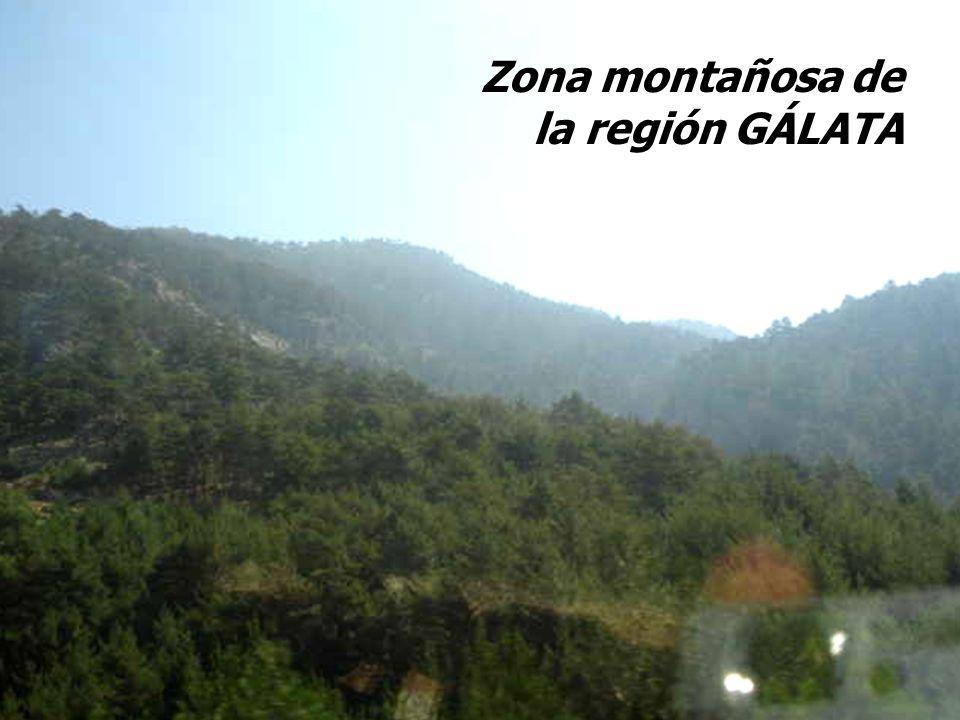 Zona montañosa de la región GÁLATA Zona montañosa de la región GÁLATA